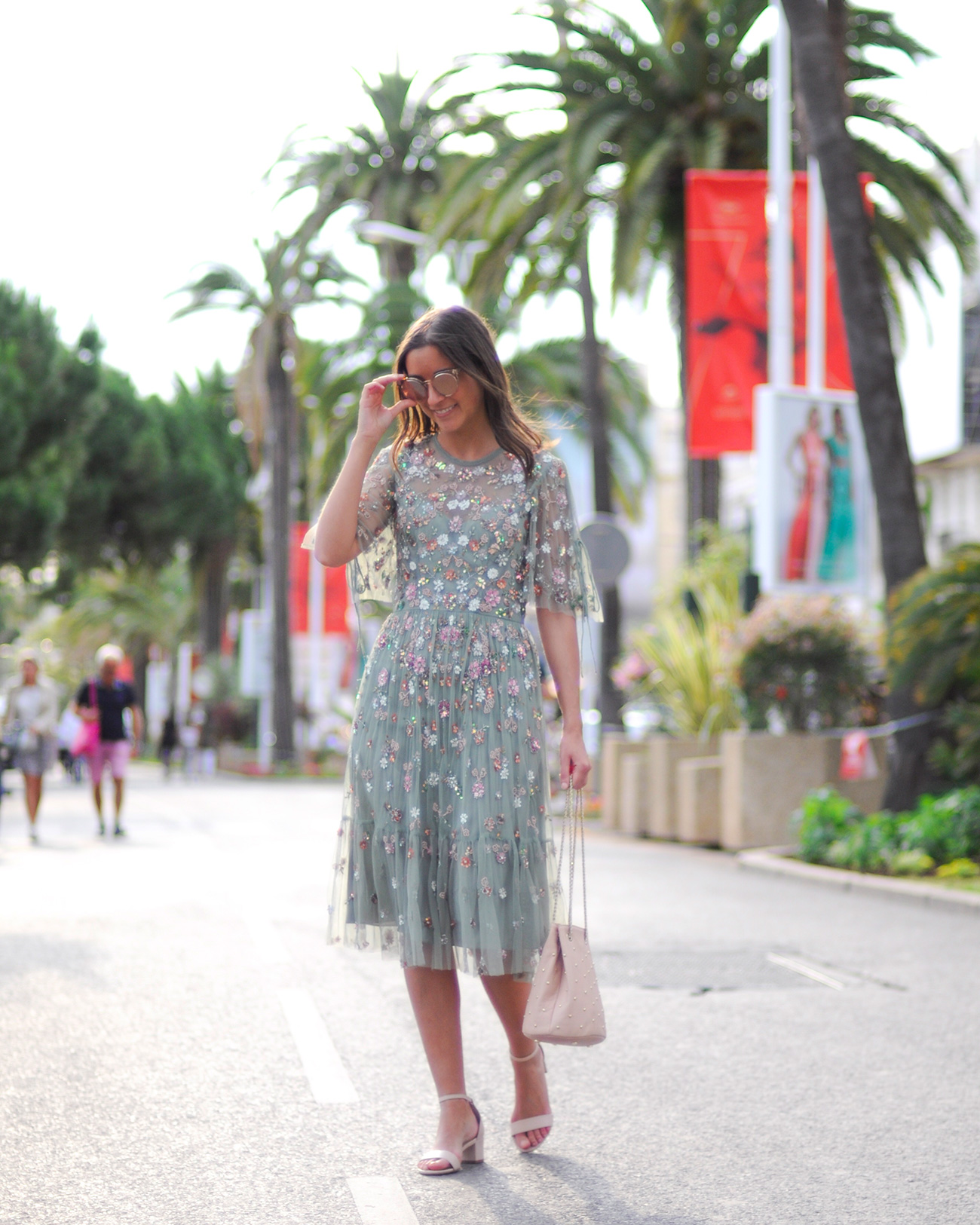 Eat Life with Style, Cannes, La Croisette, Festival de Cannes, robe de soirée, look Festival de Cannes, Needle & Thread, Sezane