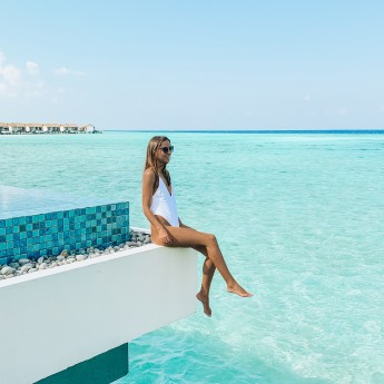 ELWS, Water pool villa, Piscine, The Residence Maldives